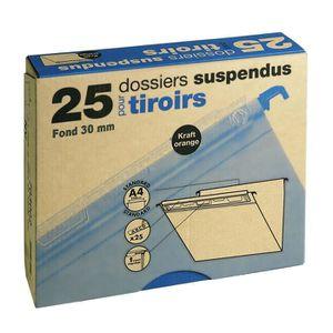 Dossier suspendu Lot de 25 dossiers suspendus pour tiroir fond 30 m