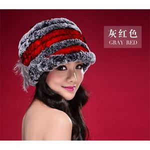 e1c044f554be CHAPEAU - BOB gris rouge Bonnets- é femme gris rouge