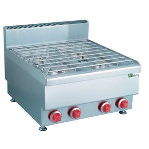 PLAQUE GAZ Plaque de cuisson gaz inox - 4 feux