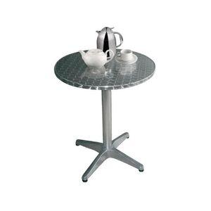 MANGE-DEBOUT Boléro Bistro Table ronde en acier inoxydable 800m