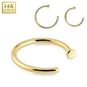 PIERCING NEZ Piercing nez anneau Or jaune 14K (0.8 mm - 10 mm)