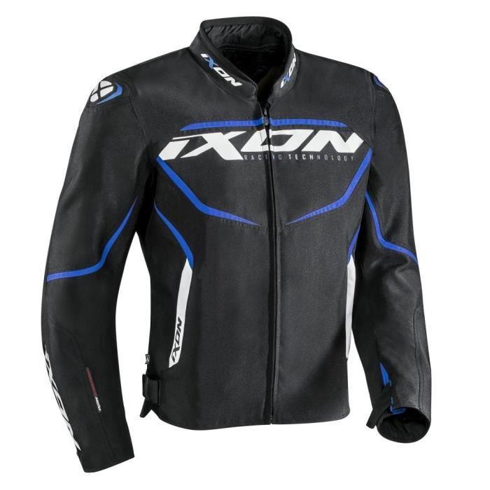 IXON Blouson de moto Sprinter - Noir / Bleu