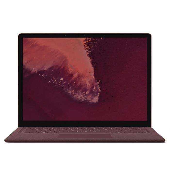 NOUVEAU Microsoft Surface Laptop 2 i5 8Go RAM, 256Go SSD - Bordeaux