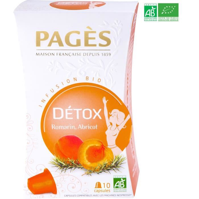 PAGES Infusion Détox - Romarin, Abricot - Capsules - Bio