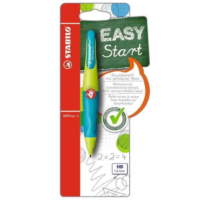 STABILO EASYergo - 1 porte-mine 1.4 droitier + 3 mines HB - turquoise/vert clair