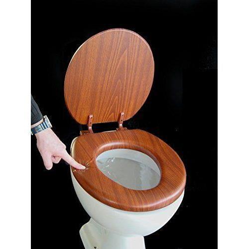 Siège de toilette rembourré couleur chêne