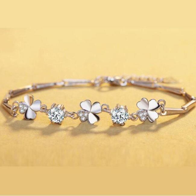 Bracelet Trèfle diamants nouveau bracelet femme en argent sterling
