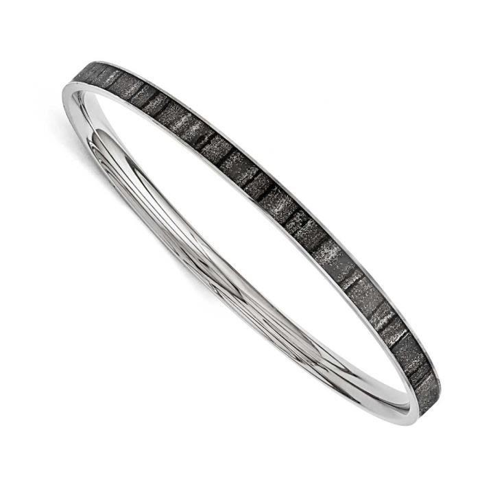 Acier inoxydable-Noir et blanc-Finition émaillée Bracelet