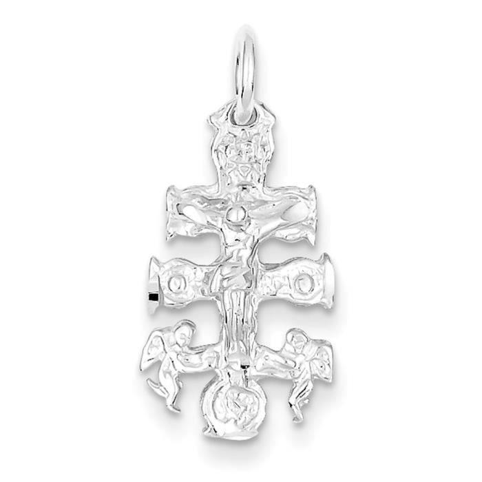 Argent 925–Pendentif Croix Christ Jésus Crucifix Cara Patte