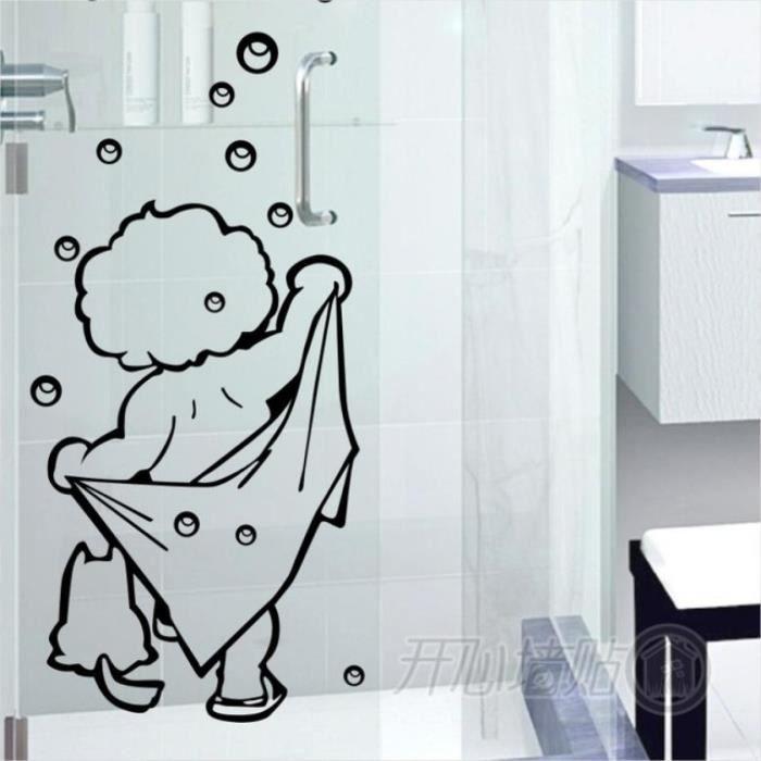 Je Aime Shower Stickers Muraux Salle De Bains Porte En Verre Autocollants Cute Enfants Douche Etanche Et Un Autocollant Amovible