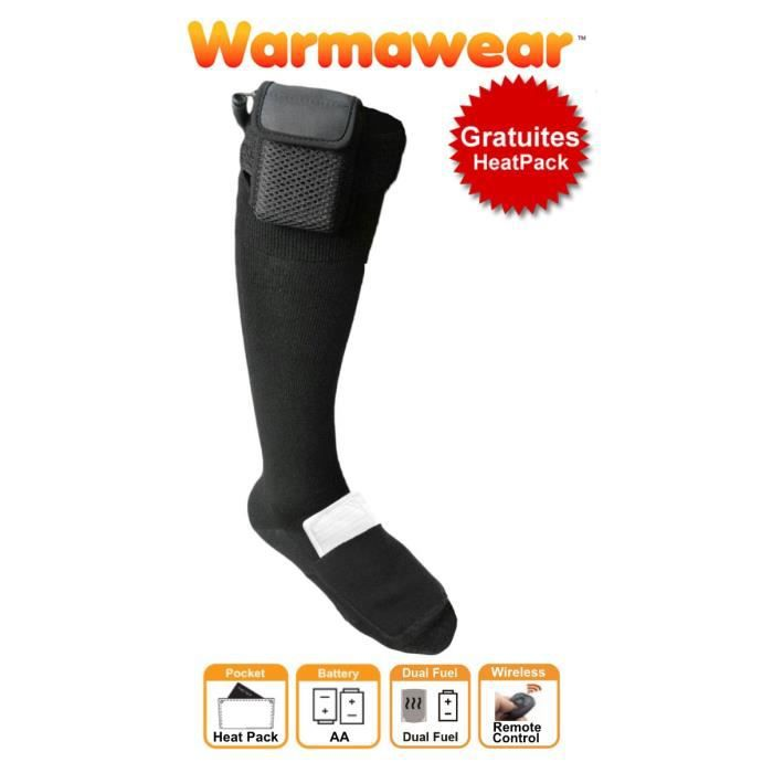 Chaussettes Chauffantes Dual Fuel - Warmawear (Moyenne)