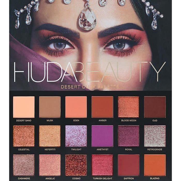 FARD À PAUPIÈRE Huda Beauty DESERT DUSK 18 couleurs Ombre à paupiè