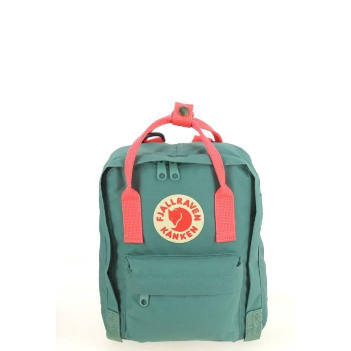 a5b46fff1b41 Sac à dos FJALLRAVEN Kanken Mini Frost Green Peach Pink 29 (H) x 20 (L) x  13 (E) cm Vert