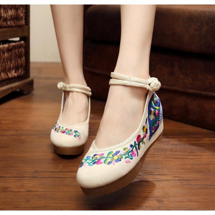 Ballerines Chaussures Femme, 5 cm vieilles Chau...