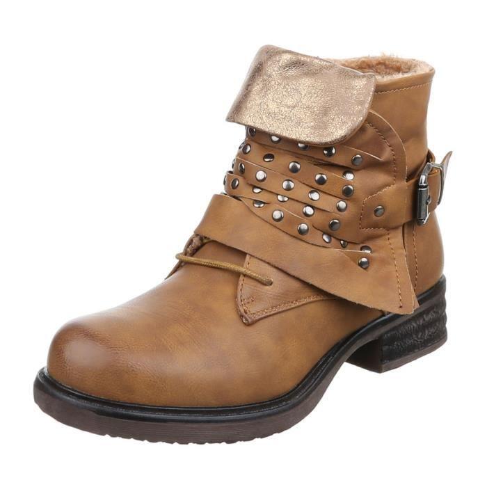 femme bottine chaussure fourré Boots par river