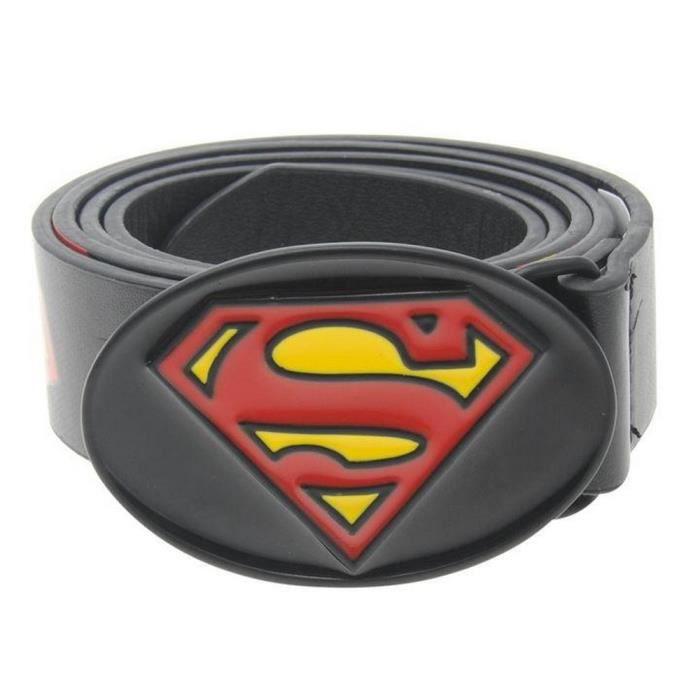 893154eb829 Ceinture Officielle Dc Comics Superman Noir - Achat   Vente ceinture ...