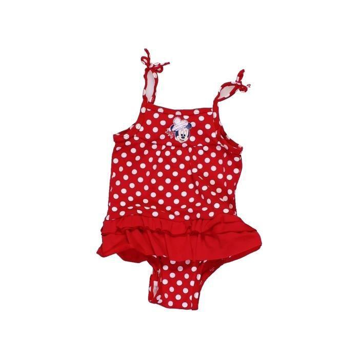 cb87259a1790b Maillot de bain bébé fille DISNEY 6 mois rouge été #956176 - 207223547
