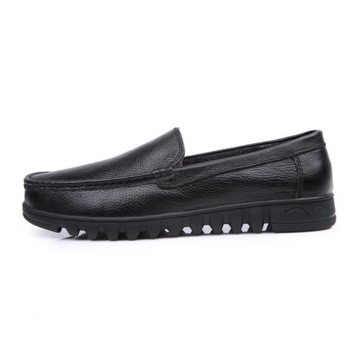Qualité Moccasin Supérieure Noir Chaussures Confortable 48 Mode 39 Moccasins Homme Nouvelle Taille Cuir Grande SRtFACq