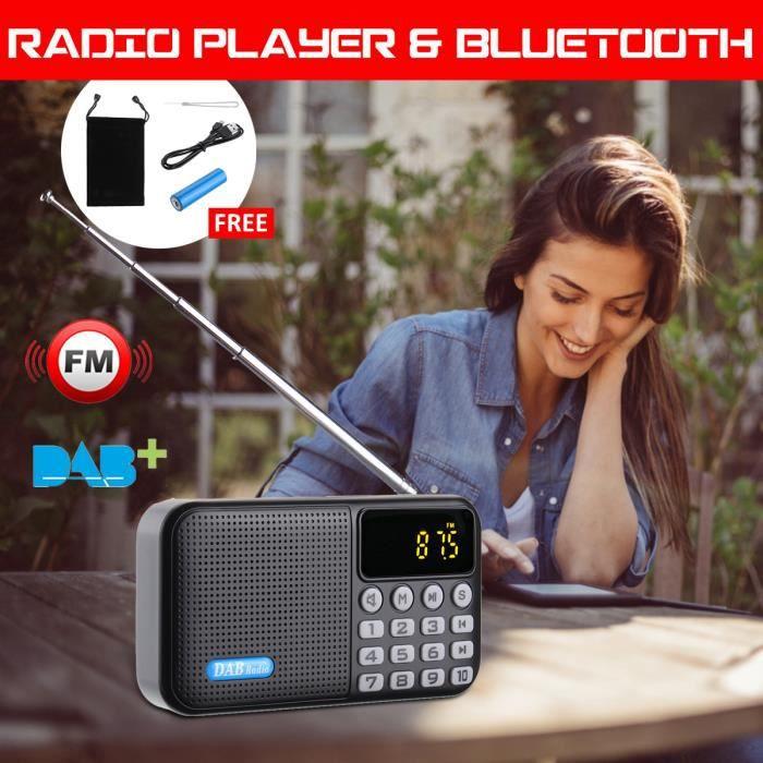 T4w Portable Radio Numérique Dab Multifonction