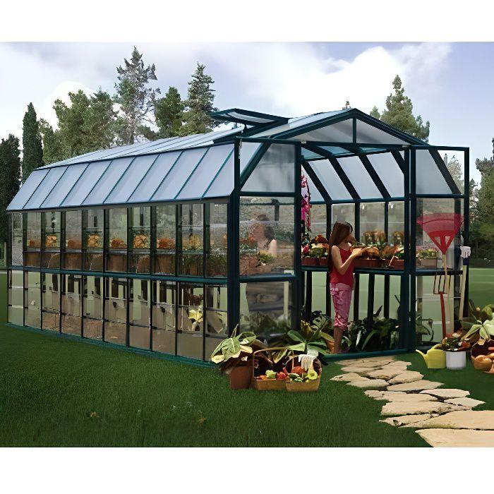 SERRE DE JARDINAGE Rion Grand Gardener 17,06 m² Ancrage au sol Oui