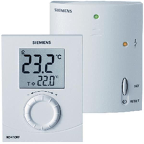 siemens thermostat d ambiance sans fil + récepteur réf rdh10rf set