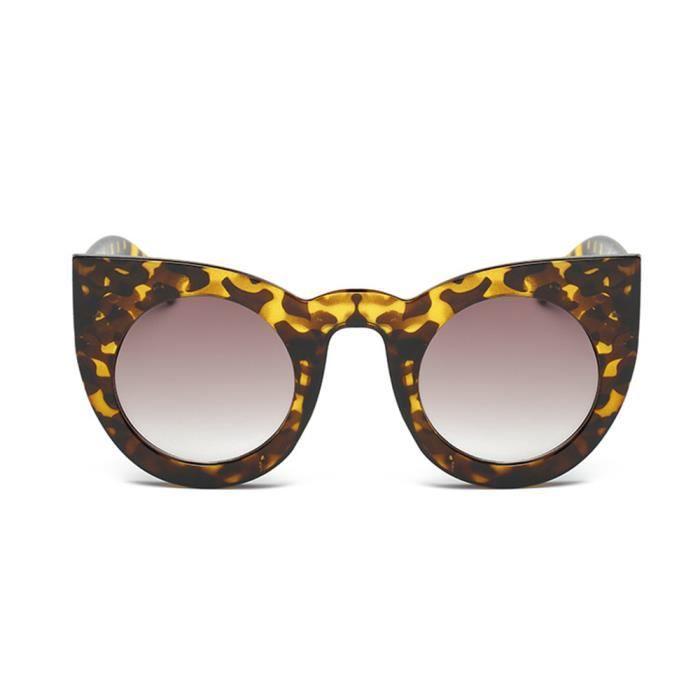 87fb0a3ff2 Mode Femmes Lunettes de soleil Lunette de verres optiques Grand Cadre  Léopard
