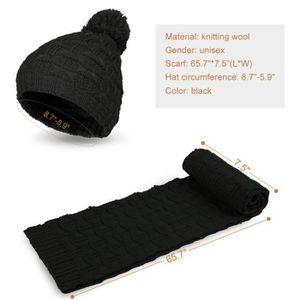 ... BONNET - CAGOULE Vbiger Ensemble bonnet et écharpe en tricot d  ... a44de24f57f4