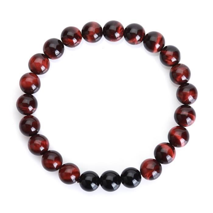 Womens Feleicis Jewelry Couple Red Tiger Eye And Black Agate Gemstones Bracelet, 7 And 8, (set O IUAXQ