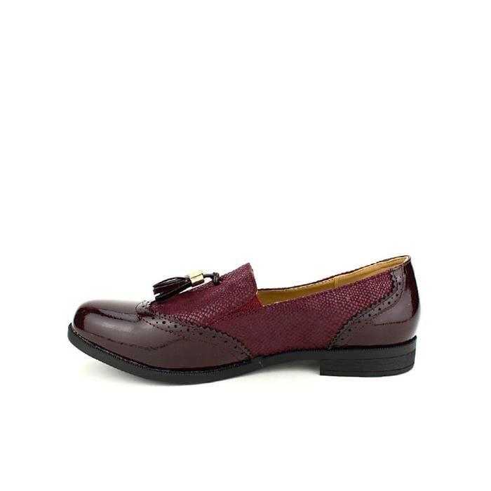 ballerine, Ballerines Bordeaux Chaussures Femme, Cendriyon