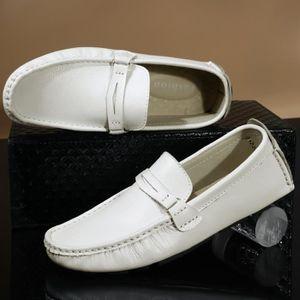 Respirante et confortable Mode Hommes Mocassins en cuir Casual Flat plus Taille 38-48,noir,38,3176_3176