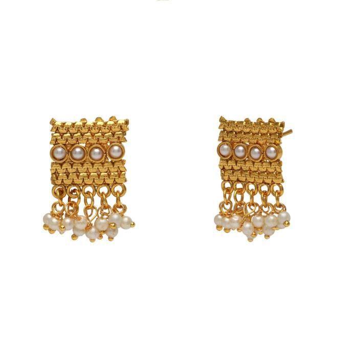 Les femmes de la mariée avec boucles doreilles blanc Collier en cuivre Set Ensembles de bijoux pourLWA3R