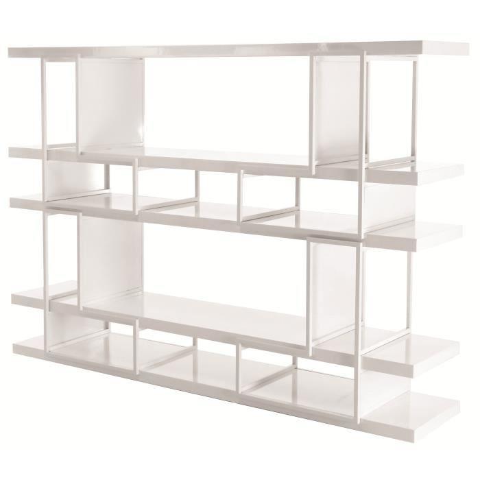 biblioth que modulable style contemporain en m tal blanc. Black Bedroom Furniture Sets. Home Design Ideas