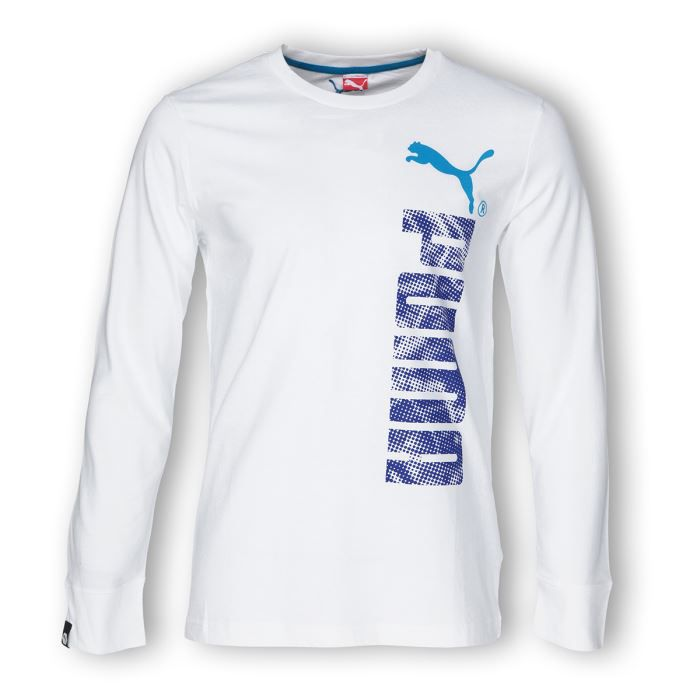 puma t shirt manches longues homme blanc achat vente t shirt cdiscount. Black Bedroom Furniture Sets. Home Design Ideas