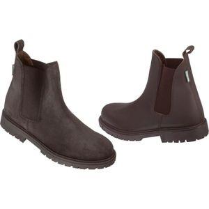 a789b91f4dcca BOTTES - BOOTS ÉQUESTRE NORTON Boots d équitation enfant Camargue - Marron