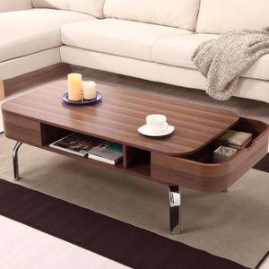 TABLE BASSE OTTMAR Table basse de salon Grain de bois Dessus d
