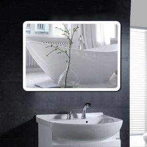 MIROIR SALLE DE BAIN 50 * 70cm Miroir de Salle de bain coin arrondi LED