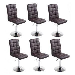 Lot de 6 chaises salle a manger hauteur - Achat / Vente pas cher