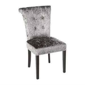 CHAISE Chaise en velour gris olive