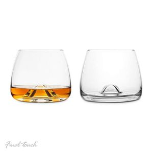 WHISKY BOURBON SCOTCH Final Touch 100% Lead-free Crystal Whisky Glasses