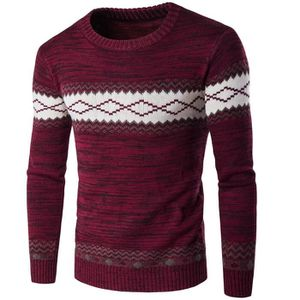 PULL Pull Homme Marine Style Ethnique Marque Luxe Manch
