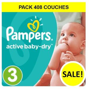 COUCHE PAMPERS Baby-dry - Couches Taille 3 - 5 à 9 kg - (