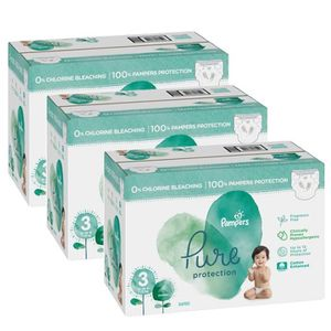 COUCHE 264 Couches Pampers Pure Protection taille 3