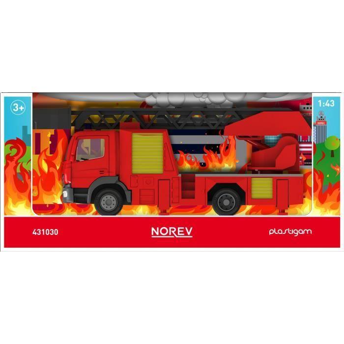NOREV Camion pompier Mercedes-Benz Plastigram