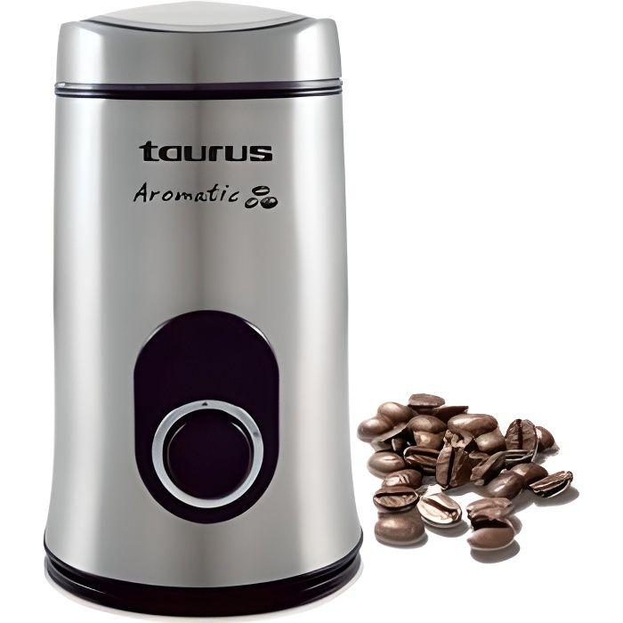 TAURUS 908503 Moulin à café électrique Aromatic 150 - Inox