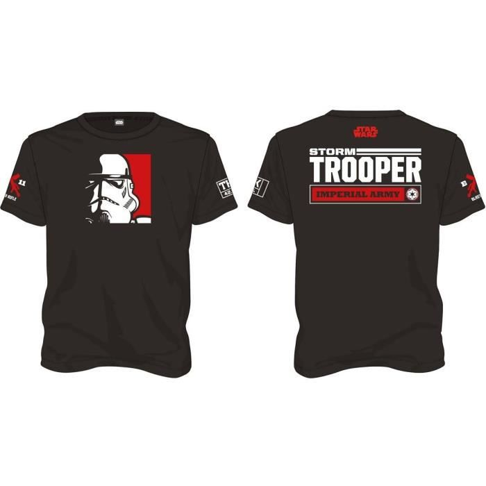 T-shirt Star Wars Stormtrooper Imperial Army - Homme Noir