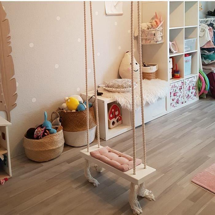 balan oire pour enfants chaise suspendue si ge de bois. Black Bedroom Furniture Sets. Home Design Ideas