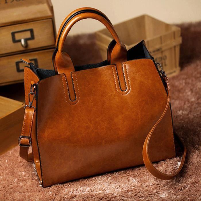 Mode simple sac à bandoulière en cuir messager sacoche populaire pour femme^PAC3691769