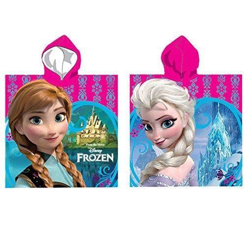 Poncho à capuche en microfibre Reine des neiges Elsa et Anna en microfibre 43f8535c8aa4