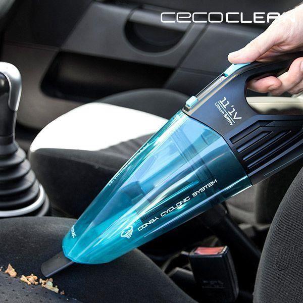 Aspirateur à Main Cyclonique Cecoclean PowerHand Wet 5067 0,5 L 11,1 V Noir Bleu