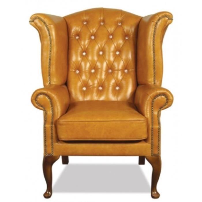 casa padrino vritable fauteuil en cuir avec des p - Fauteuil A Oreille Pas Cher